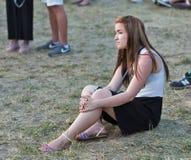 Fan przy atlanta Weekendowym festiwalem muzyki w Kijów, Ukraina Zdjęcie Royalty Free