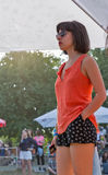 Fan przy atlanta Weekendowym festiwalem muzyki w Kijów, Ukraina Fotografia Royalty Free
