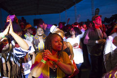 Fan przy Safaricom festiwalem jazzowym obrazy stock