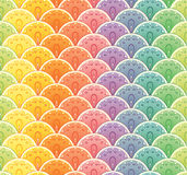 Fan rainbow seamless pattern Stock Image