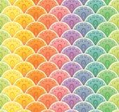 Fan rainbow seamless pattern Stock Image