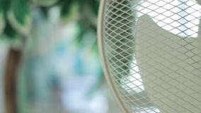 Fan in the room. In hot days stock footage