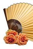 Fan and rose Royalty Free Stock Photos