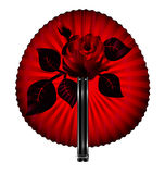 Fan and rose Royalty Free Stock Images