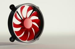 Fan rosso del CPU Fotografie Stock