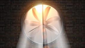 Fan rotating stock video