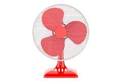 Fan rouge de Tableau, rendu 3D Images stock