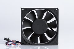 The fan`s computer with white background. royalty free stock photos