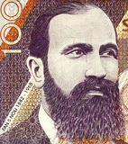 Fan S. Noli. (1882-1965) on 100 Leke 1996 Banknote from Albania. Albanian-American writer, scholar, diplomat, politician, historian, orator, and founder of the royalty free stock photography