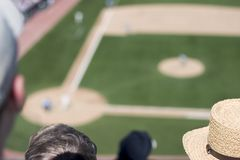 Fan's View of a Baseball Game Royalty Free Stock Photos