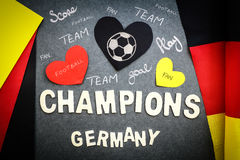 Fan's wall for German football team Stock Image