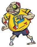 Fan sanguinoso grottesco dello zombie illustrazione di stock