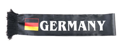 Fan scarf. Germany fan scarf on a white background. Isolated Royalty Free Stock Image