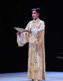"With a fan of the scholar-The niche Zhang Junrui-Kunqu Opera ""the West Chamber"" Royalty Free Stock Image"