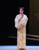 "With a fan of the scholar-The niche Zhang Junrui-Kunqu Opera ""the West Chamber"" Royalty Free Stock Photos"