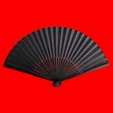 Fan se pliante noire Photo stock