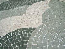 Fan shape Grey colour Square shaped stone bricks Royalty Free Stock Photos