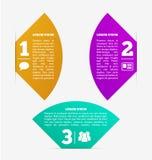 Fan shape Labels Stock Image