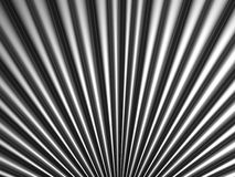 Fan shape silver metal background Stock Photography