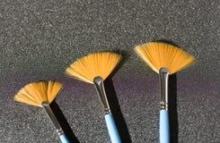 Fan-shaped brush Royalty Free Stock Photos