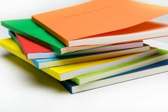 Fan-shaped stack of books Stock Photos
