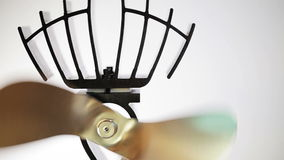 Fan Spinning without electricity stock footage