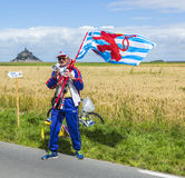 Fan at The Start of Tour de France 2016 Royalty Free Stock Photo