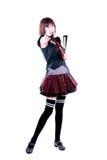 fan target416_1_ kobiet japońskich potomstwa Zdjęcia Stock