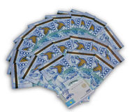A fan of ten thousand Kazakhstan currency Stock Image