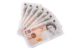 A fan of tenners Royalty Free Stock Photos
