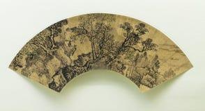 Fan tradizionale cinese della pittura immagini stock libere da diritti