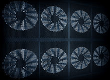 Fan turbine background Stock Image