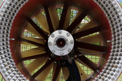 Fan turbine, background Royalty Free Stock Photo