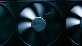 Fan turbine behind a dark surface Royalty Free Stock Photography