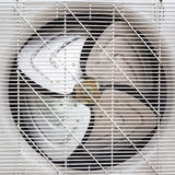 Fan under white plastic grate Stock Image