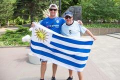 Fan Urugwaj zdjęcie stock