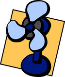Fan vector illustration. Vector illustration of an electric fan Royalty Free Stock Photo