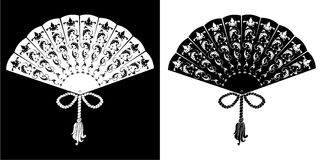 Fan - vintage illustration - silhouette Royalty Free Stock Photos