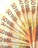 Fan von Banknoten Lizenzfreie Stockbilder