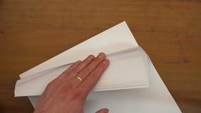Fan von Blättern Papier A4 stock video footage