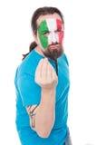 Fan von der Nationalmannschaft von Italien Stockfotos