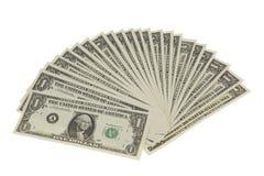Fan von Dollar-Anmerkungen Lizenzfreie Stockfotos
