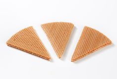 Fan wafer biscuits Stock Photo