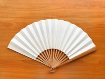 Fan white chinese paper Stock Photos