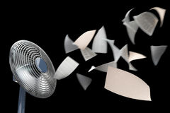 Fan and winding paper concept background Stock Images