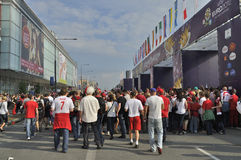 Fan Zone EURO 2012 Stock Image