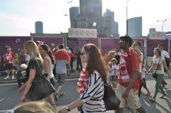 Fan Zone EURO 2012 Stock Images