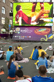 Fan Zone  EURO 2012 in Kiev Stock Images