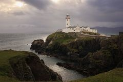 Fanad head lighthouse. county Donegal. Ireland. Fanad head lighthouse in stormy weather. county Donegal. Ireland Royalty Free Stock Images