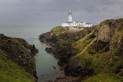 Fanad head lighthouse. county Donegal. Ireland. Fanad head lighthouse in stormy weather. county Donegal. Ireland Stock Images
